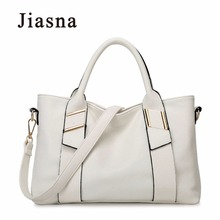 2017 New Fashion Soft Leather Woman Handbag Ladies Fashion Hobos Bag Brand Casual Tote Bags For Woman White Messenger Bag