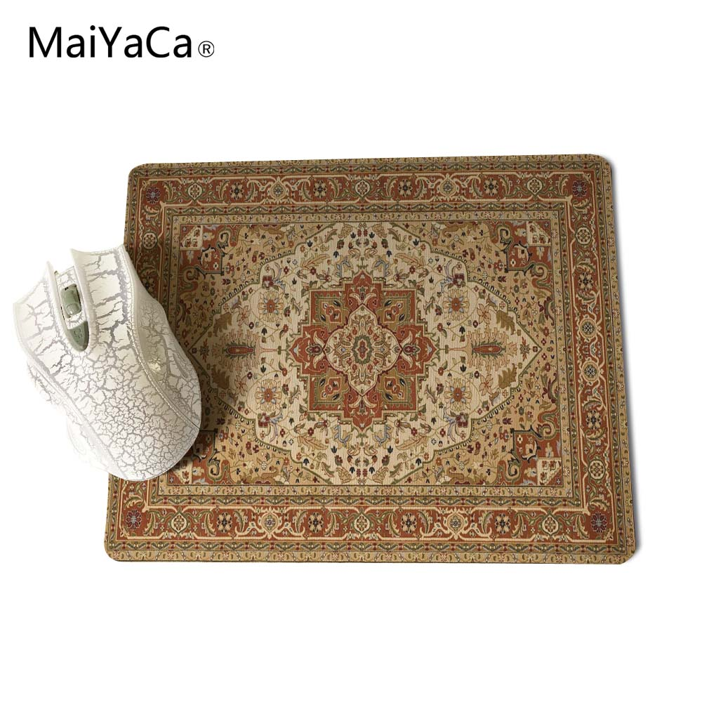 MaiYaCa NEW Customized Supported Fashion Design Cool Persian Rugs Mouse Mats Anti-Slip Rectangle Mouse Pad 250X290 MM 6