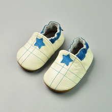 New Star Baby Leather Moccasins Soft Sole Newborn Shoes for Girl Slip On Handmade Toddler Boy Shoes