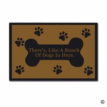 Entrance There's, Like A Bunch Of Dogs In Here Indoor Outdoor Door Mat Non-slip Doormat 23.6 by 15.7 Inch Machine Washable Non-(China)