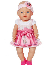 New Fashion Doll Accessories,pink dress  Doll Clothes  Wear fit 43cm Baby Born zapf