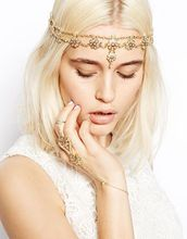 Vintage Head Chain Headband Hair band Hair Jewelry  Flower Tassel Forehead Headpiece Hair Chains For Women
