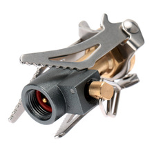 Outdoor Gas Stove Portable Folding Mini Camping Stove Survival Furnace Stove 45g 3000W Pocket Picnic Cooking Gas Burner