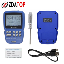 VPC100 Car Key Pin Code Reader / Calculator for Auto Locksmith VPC 100 with 300+200 Tokens Super OBD Hand-Held Vehicle VPC-100(China)