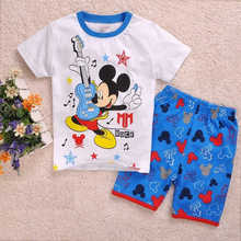 New Arrival summer Baby Sleepwears Minnie Mickey Boys Superman Pajamas Children Pyjamas Girls Cartoon Pijamas Kids Clothing set