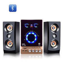 2.1 multimedia hi-fi stereo color screen computer Bluetooth subwoofer speaker can be connected to card Microphone k song USB MP3(China)