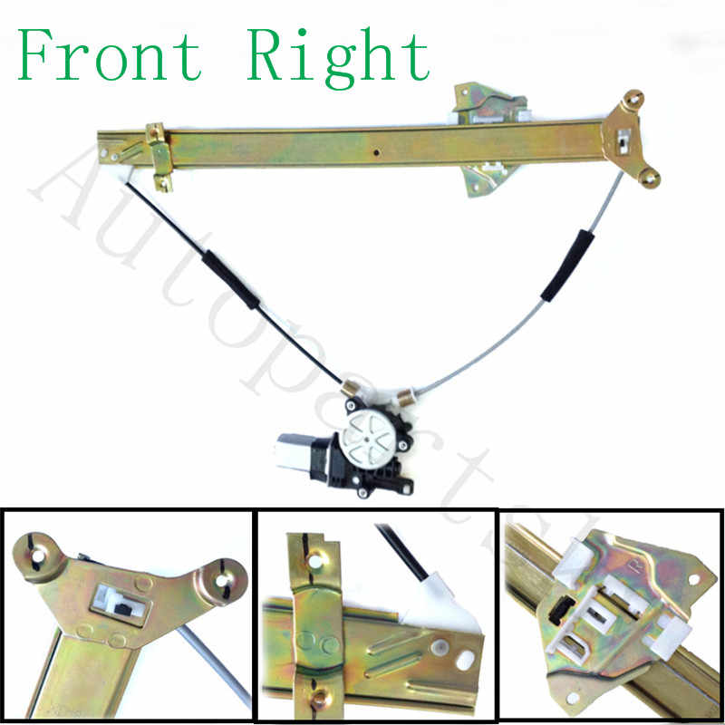 A-Premium Power Window Regulator with Motor Replacement for Mitsubishi Outlander 2003-2006 Front Driver Side