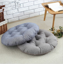 Japan Style Round Cotton&Linen  Meditation Cushion  Yoga Cushion Bay Window Cushion  Blue/Pink/Light Coffee/Gray