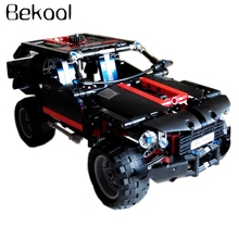 Bekool 3341 High Tech Transport Cruiser SUV Racing Car Model 589pcs/set Building Block Sets kit Baby toys for Christmas gifts