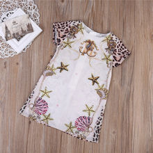 Newborn Infant Baby Girls Clothing  Floral Children Casual Dresses starfish Jumpsuit Kids Dress For girl 2-7T