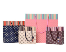100pcs New! Colorful Polka Dots Paper Bags, Party Favor Bag, Open Top Treat Bag Paper Gift Bag