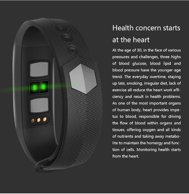 CD01 Graphene ECG HeartRate Blood Pressure Smart Bracelet for iphone Android Sleep Pedometer Activity Tracker Call SMS Reminder 2