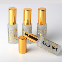 1Pieces Gold 15ml Glass spray bottles ,empty perfume glass 15ml bottles , 0.5 oz antique cut glass perfume bottles(China)