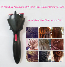 2016 NEW Electric  Automatic Smart Quick Easy DIY Braid Hair Braider Hairstyle Tool hair braided tight curls artifact