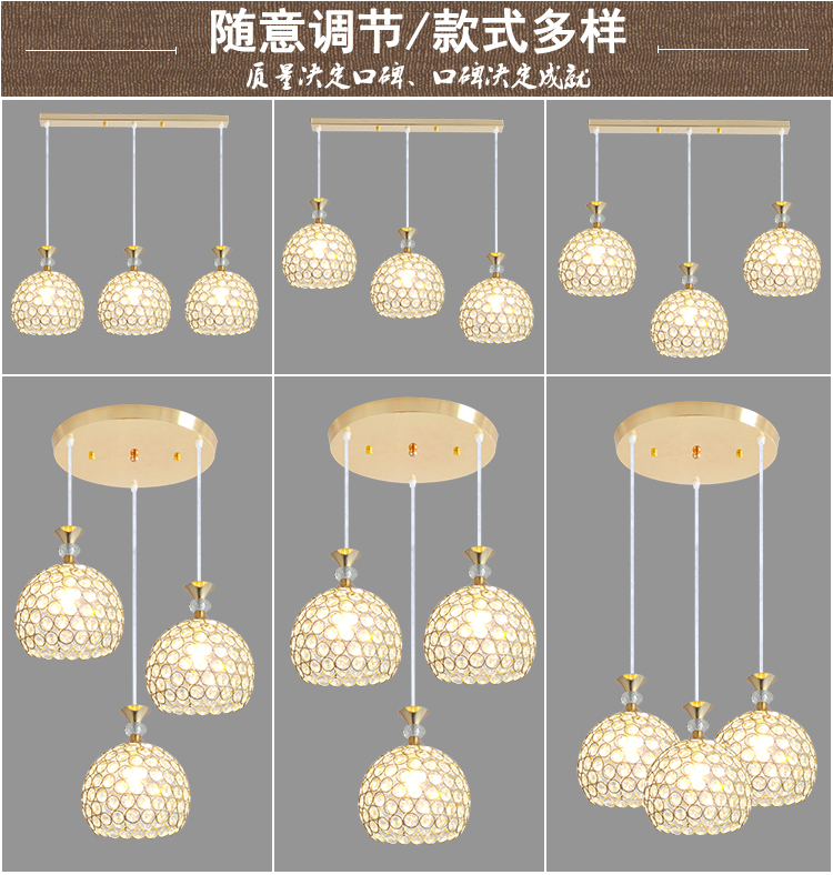 Modern Simple Restaurant Pendant Lights Creative Crystal Bar Desk Home  Lighting 1/3 Heads Corridor Hallway Balcony Lamps ZA   Us468