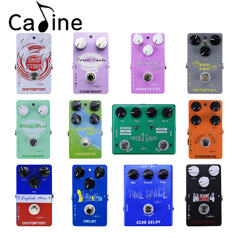 Caline Overdrive/Distortion/Delay/Boost Series Portable Electric Guitar Effect Pedal and Power Supply<br>