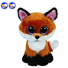 A toy A dream Original Ty Beanie Boos Big Eyes Plush Toy Doll Fox TY Baby Kids Gift 10-15 cm Stuffed Animals(China)
