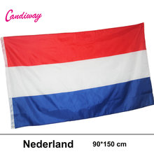 CANDIWAY Large Netherlands Flag Polyester Dutch National Banner Indoor Outdoor New Flag of Holland 90*150CM(China)