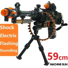 New Listing 59cm Electric simulation Machine Gun Toy With Sound & Flashing Sniper Rifle Toys Submachine Gun Boys Birthiday Gifts