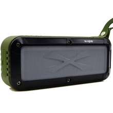 Outdoor Bluetooth Speaker, Portable Fm Radio Waterproof Wireless NFC Bluetooth 4.0 Loud Dual Speakers System Rechargeable(Hong Kong)