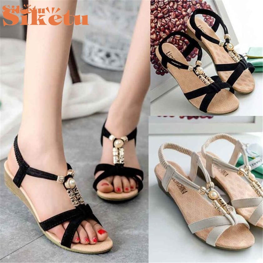 High quality  Womens Casual Peep-toe Flat Buckle Shoes Roman Summer Sandals<br><br>Aliexpress