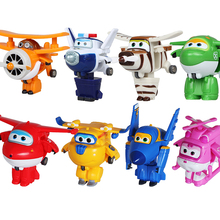 Best Sale Super Wings Mini Planes Cartoon Model Transformation Airplane Robot Action Figures Toys Wholesale And Retail(China)