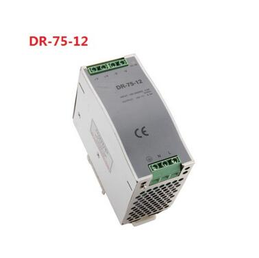 POWER SUPPLY DIN RAIL DR-75-12 75W 12V 6.3A - Switching Power Supply<br>