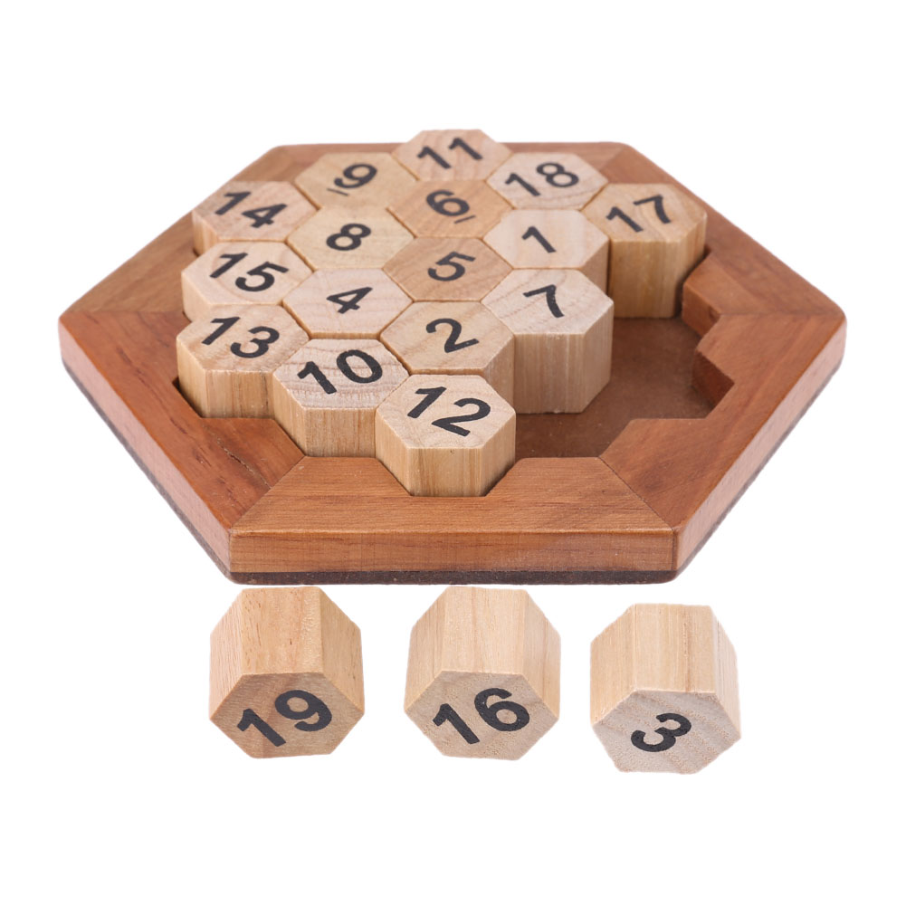 Children Brain Teaser Wooden Number Board Kids Montessori Math Game