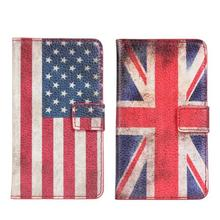 Classic USA UK Flag Case For Samsung Galaxy S2 i9100 Fashion Wallet Case(China)