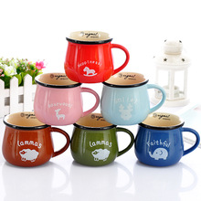 1pc 350ml 150ml Mark cup Coffee cup ceramic cup wholesale Milk cup(China)