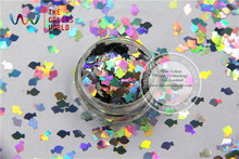 TCA100 Laser Silver Color Goldfish 6MM Size Glitter dust ,Specular luster glitter for nail,tatto,Art decoration and others