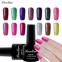 Saroline 8ml Lucky Beautiful Neon UV Nail Gel Polish Professional Long-lasting Nail Gel Varnish Nail Art Star rainbow nail glue(China)