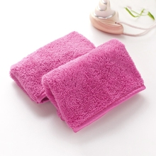 Reusable Microfiber Makeup Easy Remover Towel Facial Cleansing Face Towels Quick Dry Solid Pink H06(China)