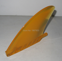 2018 new Soft Semitransparent Single Surf Fin For Stand up paddle board Surfboard Orange paddle Center fins surfing accessoire(China)