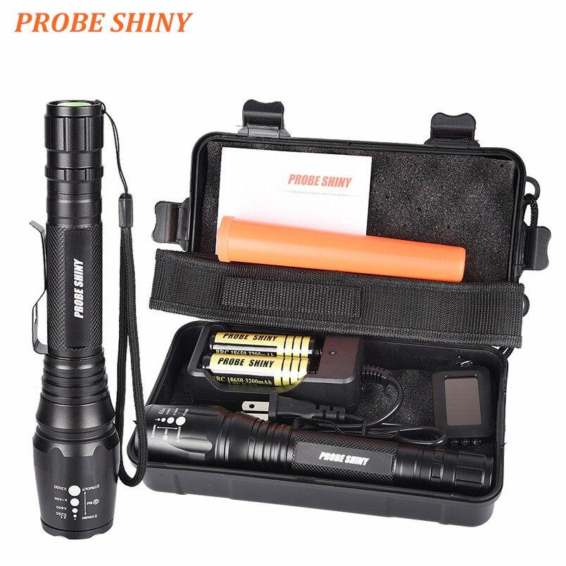 Negro PROBE SHINY Brillante 5000LM X800 shadowhawk CREE T6 LED Linterna Antorcha L/ámpara G700 Kit Luz