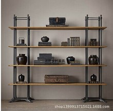 Retro-style wood shelf bookcase shelf wall mount wall shelving American wholesale Hot