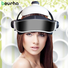 Beurha Electric Head Massager Brain Massage Helmet With Music Adjustable Size Instrument Head Massage RelaxationDevice Household