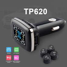 Profession TPMS Car Auto Wireless Tire Pressure Monitoring System Car Tire Diagnostic-tool With USB Socket Show Temperature(China)