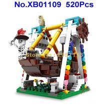 XB01109 520pcs Colorful World Series The Pirate Of Caribbean Ship Building Block Brick Toy(China)