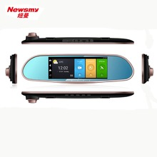 6.86 inch dual lens front rear view video record car DVRs dvr dash camera mirror video camera(China)
