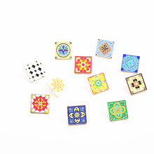 Micro chapter fashion jewelry charm women Geometric creative tiling character joker brooch brooches Girls clothing accessories