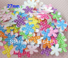 500PS mini mixed color felt flower patch applique kids accessories clothing children/decoration/Craft/Scrapbooking Sewing(China)