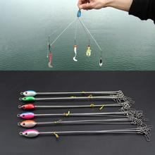 Hight Quality 5 Arms Rig Fishing Lures Bass Barrel Swivel Alabama Umbrella with 5 Wires Jigs Tools Accessories(China)