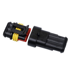 New 1 Sets NEW DIY Car Auto 3 Pin Way Sealed Waterproof Electrical Wire Connector Plug Set for Car Motorcycle HID LED Light lamp