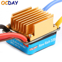 OCDAY 5-13V 320A Waterproof 3S 60A Brushed Motor ESC Electronic Speed Controller For 1/10 RC Car(China)