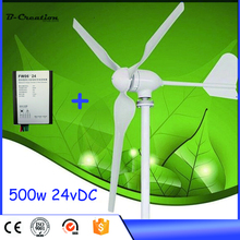 2017 Real Rushed Generator Wind Generator Mini Wind Power Turbine 500w 24v Generator For Homes+controller
