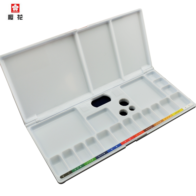 Freeshipping SAKURA multi-function folding palette Nail color painting gouache watercolor Color box palette of propylene artist<br>