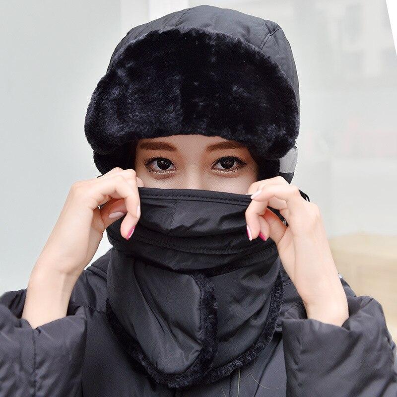 Winter Unisex Man Woman Bomber Hat Earflap Toboggans Ouchanka Ushanka Mouth-muffle Fleece Lined Soft Nap Velvet Fluffy Warm CapsОдежда и ак�е��уары<br><br><br>Aliexpress