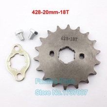 Brand 18 Tooth Front Engine Sprocket 428 20mm ID For 140cc 150cc 160cc GPX SSR SDG Pit Bikes Motorcycle(China)