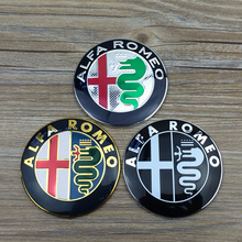 20pcs new Style gold/black/new color 74mm ALFA ROMEO for Mito 147 156 159 166 Giulietta Spider GT Car Logo emblem Badge sticker